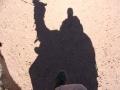 Schatten eines Kamelreiters